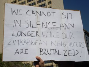 We cannot stand in silence while our Zimbabwean brothers are brutalized