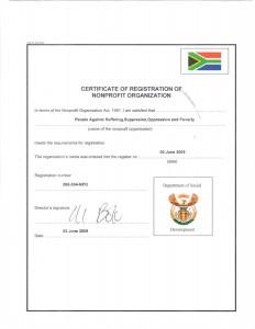 passop npo certificate